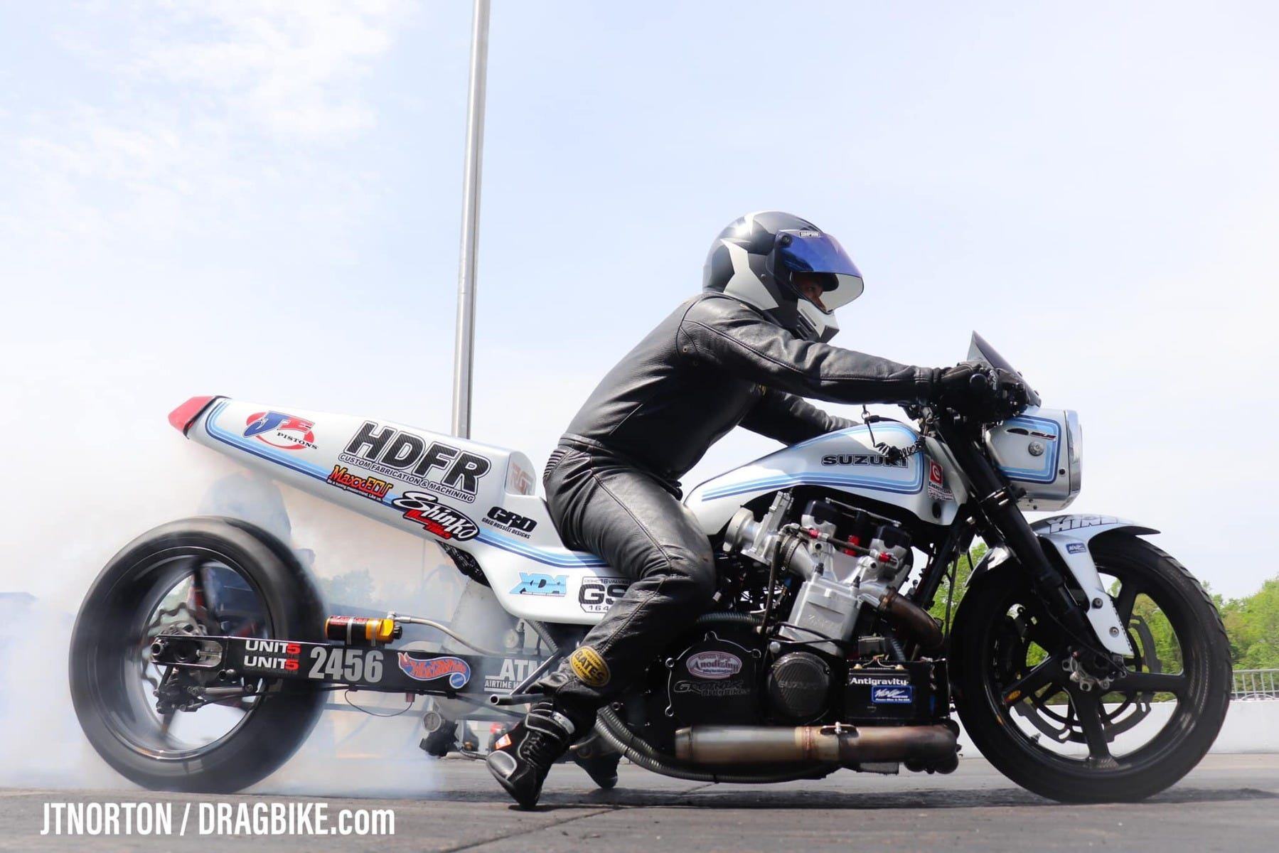 Mummer_GS_Drag_Bike_Burnout