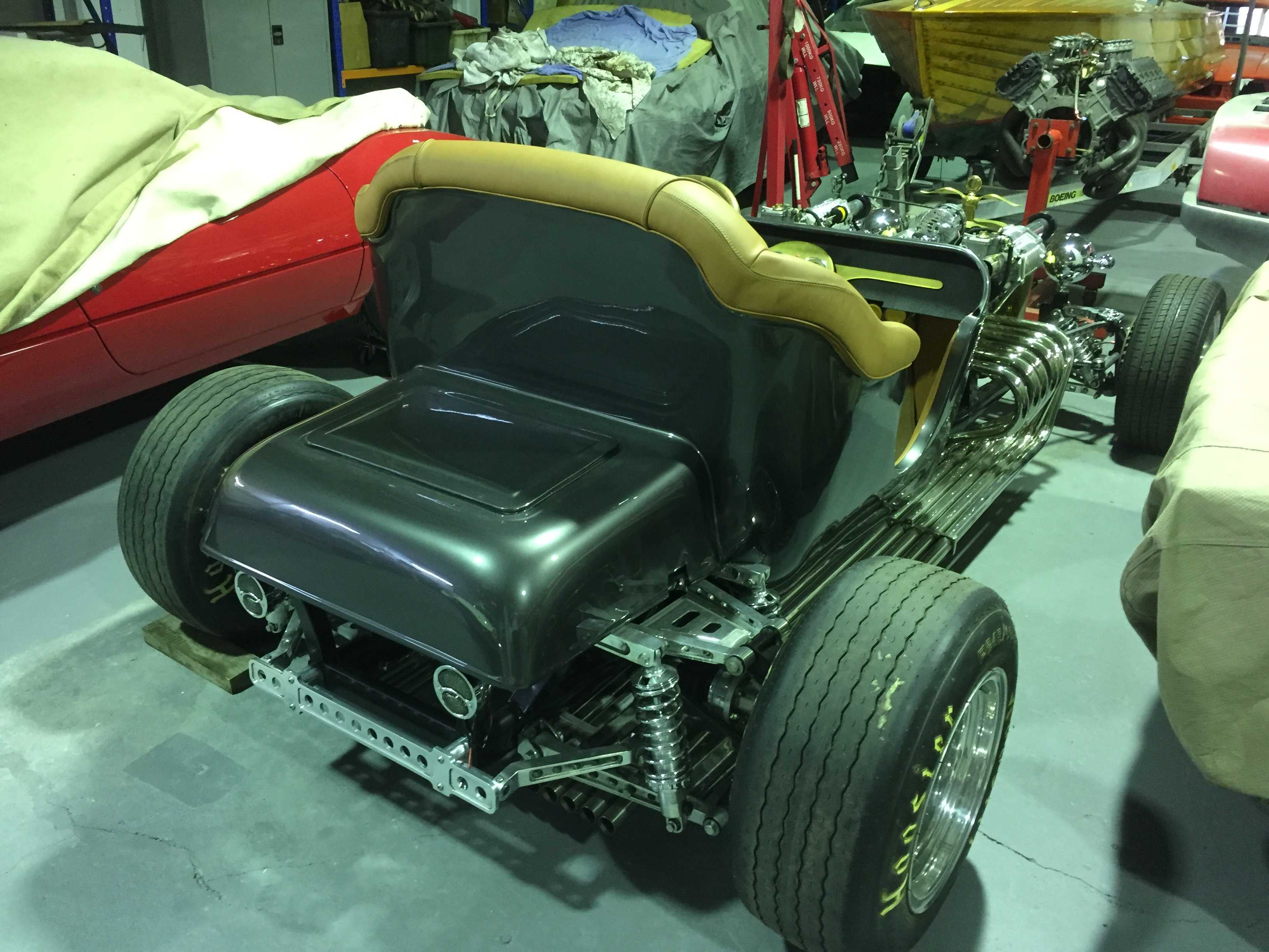 This Twin Supercharged, Ferrari- V12-Powered T Bucket Ain't Your Typical Street Rod