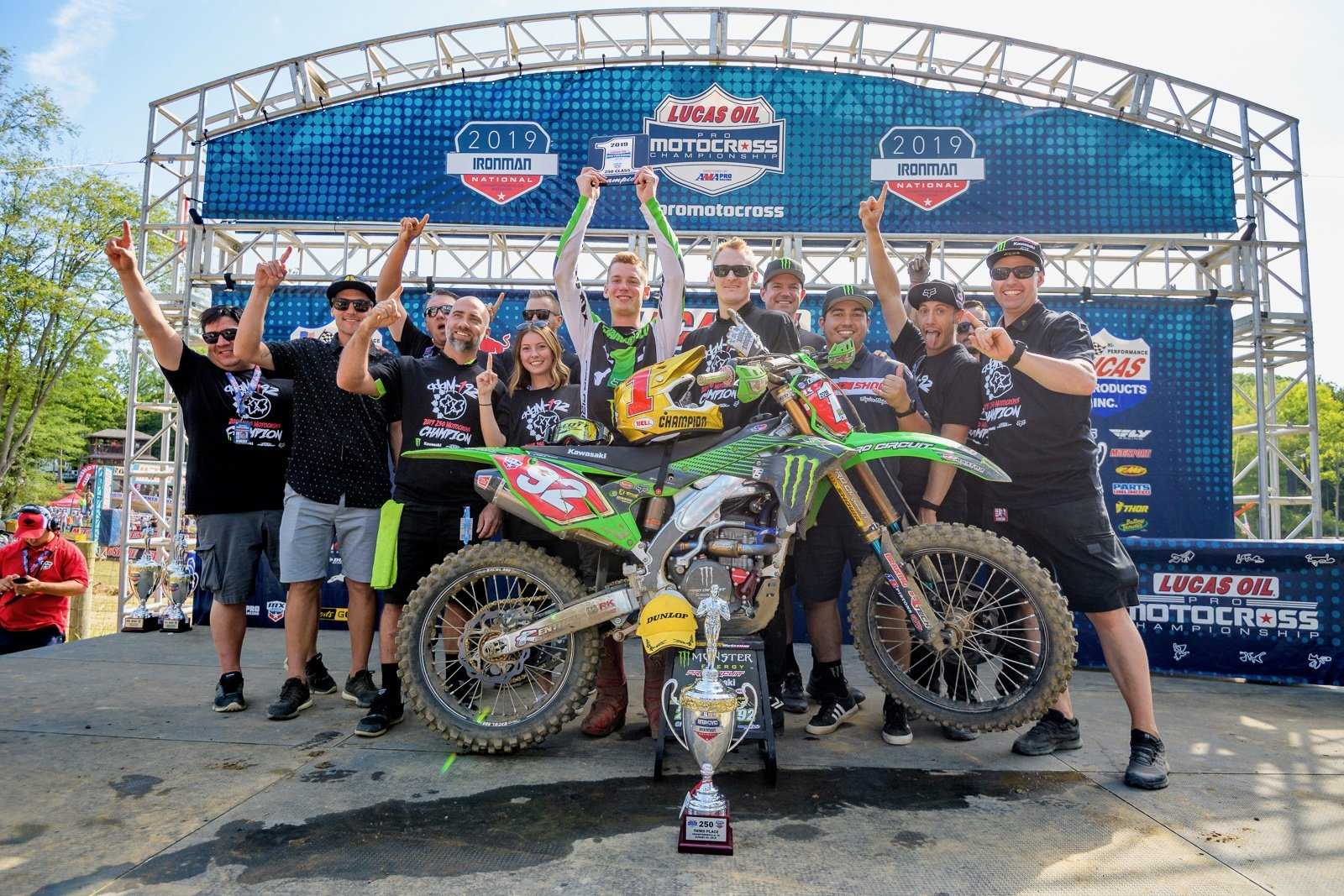 Cianciarulo, JE Pistons Wrap Up Pro Motocross Championship at Ironman National