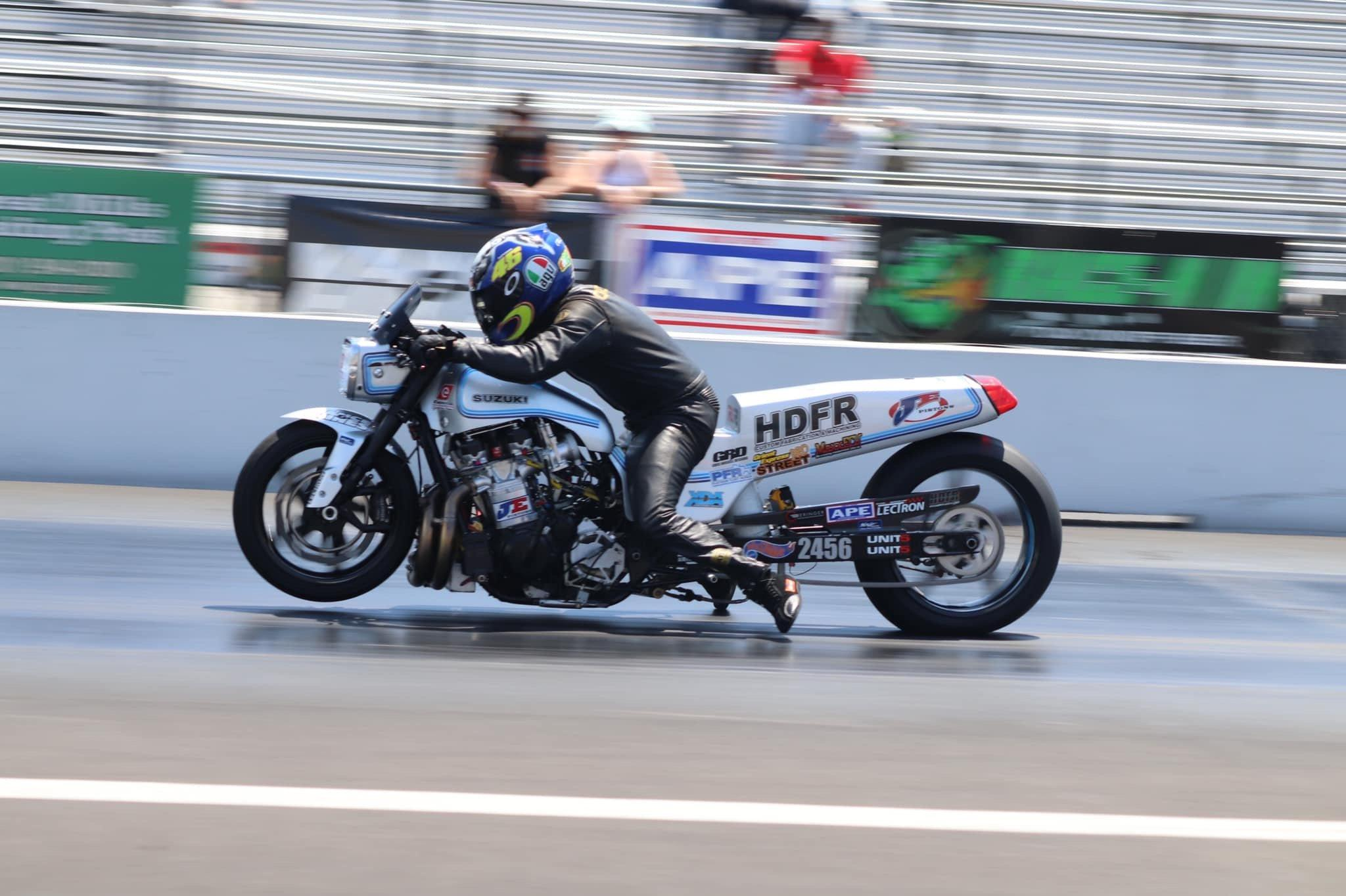 The 550+ HP Suzuki GS Nitrous Pro Street Drag Bike
