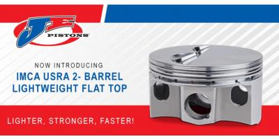 JE Pistons IMCA USRA 2-Barrel Lightweight Flat Top